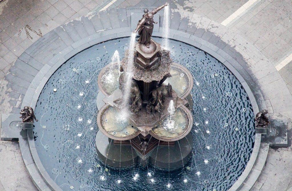 old, architecture, fountain
